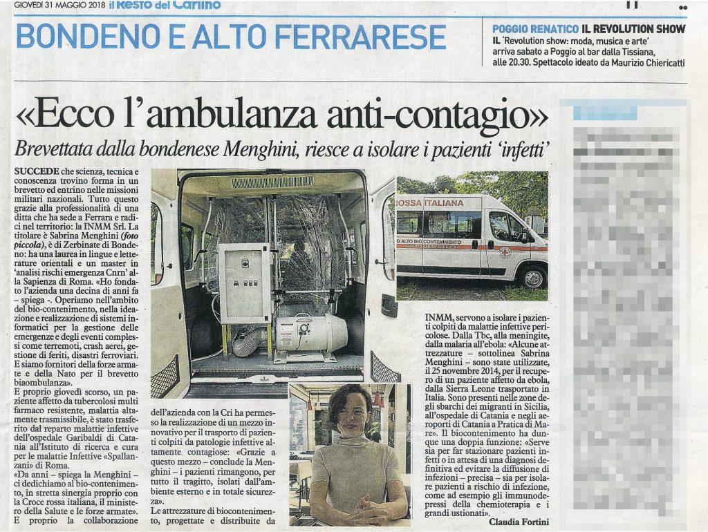 Ecco l'Ambulanza anti-contagio