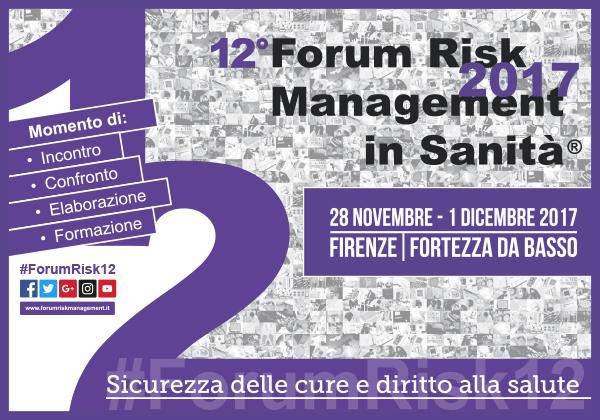 12° Forum Risk Management in sanità